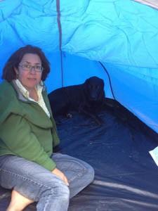 Truffel en me in tent
